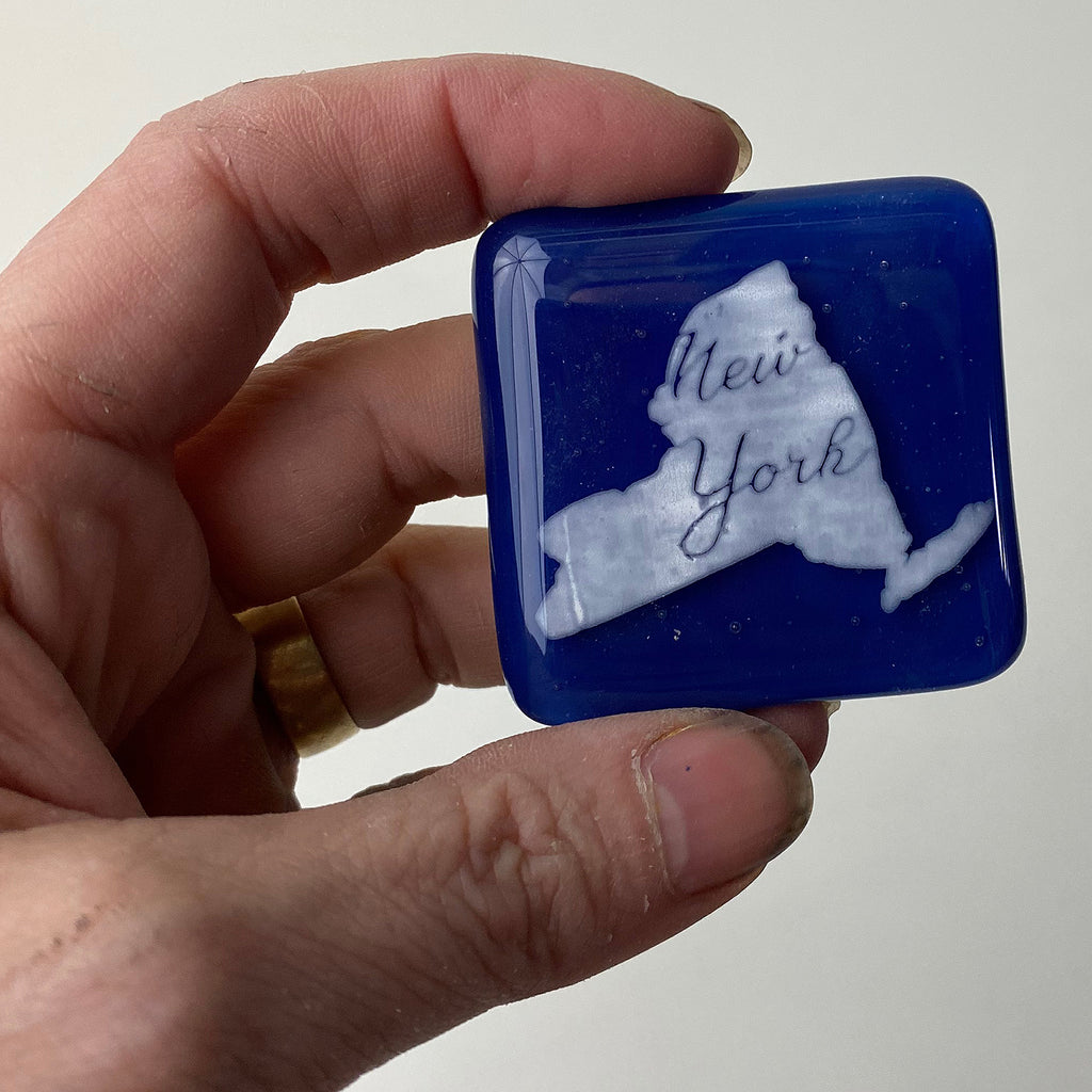 New York State Fused Glass Magnet