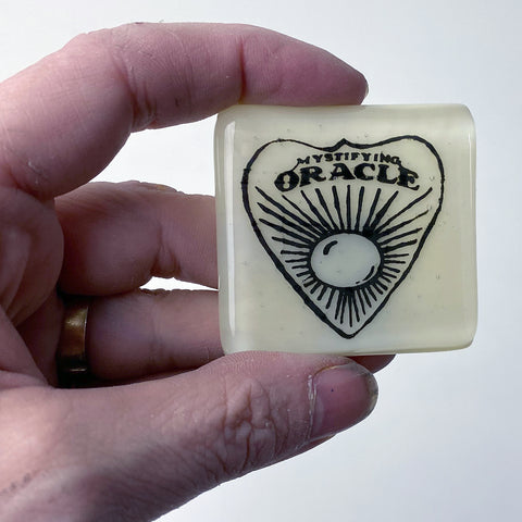 Ouija Planchette Fused Glass Magnet