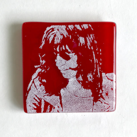 Joey Ramone Fused Glass Magnet