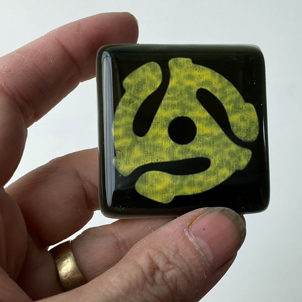 Record Adapter Fused Glass Magnet