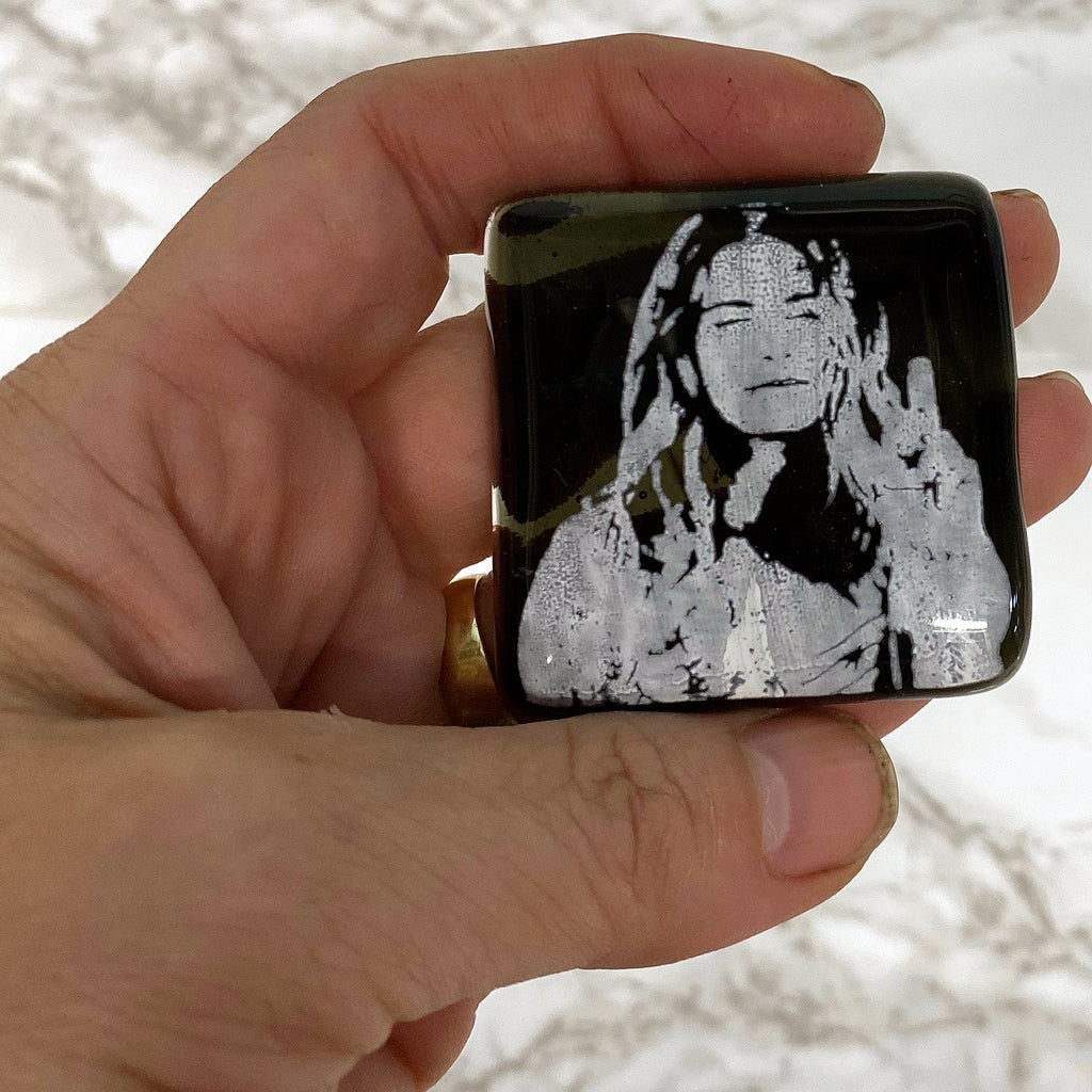 Schitt's Creek Actor Annie Murphy Fused Glass Magnet