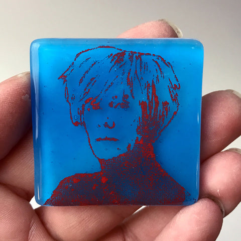 Andy Warhol Fused Glass Magnet
