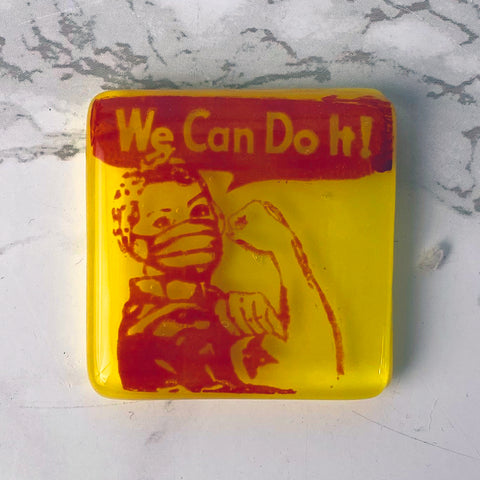We Can Do It Nurse Fused Glass Magnet