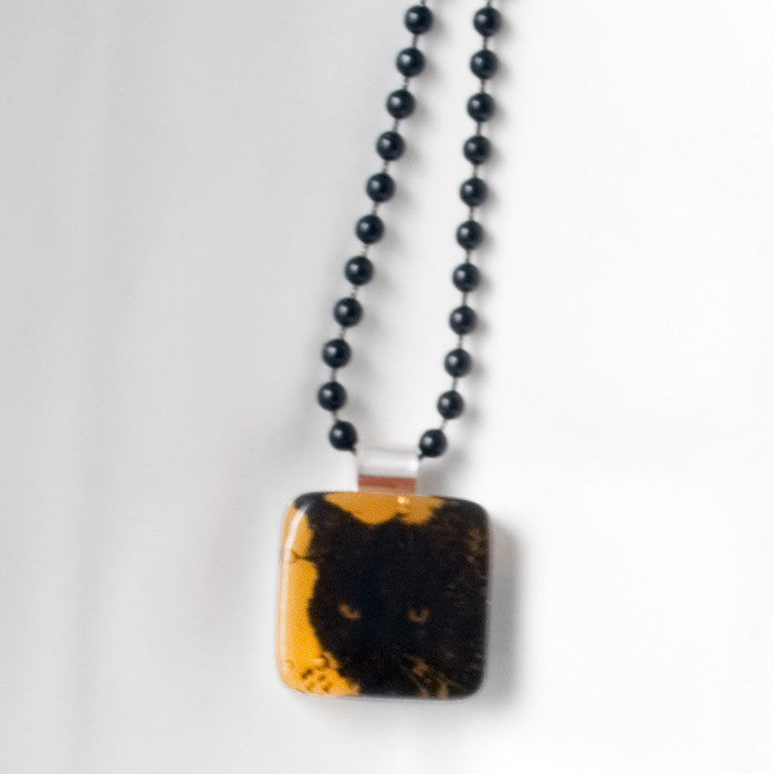 Black Cat Mini Necklace