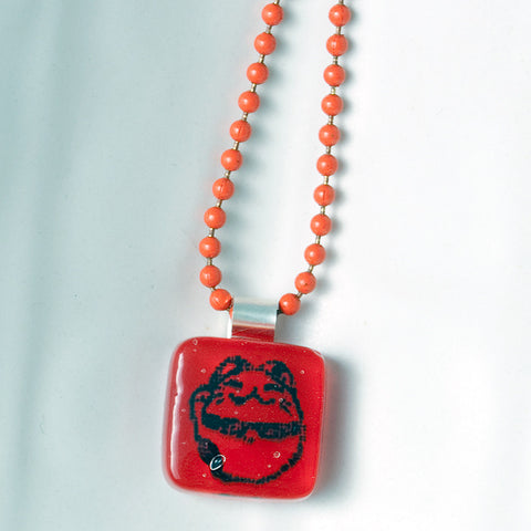 Lucky Cat Mini Necklace