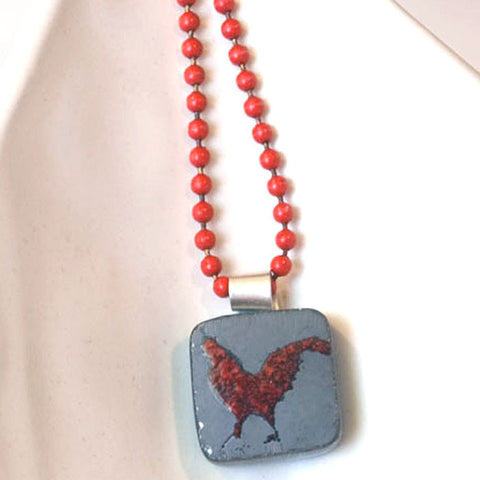 Rooster Mini Necklace