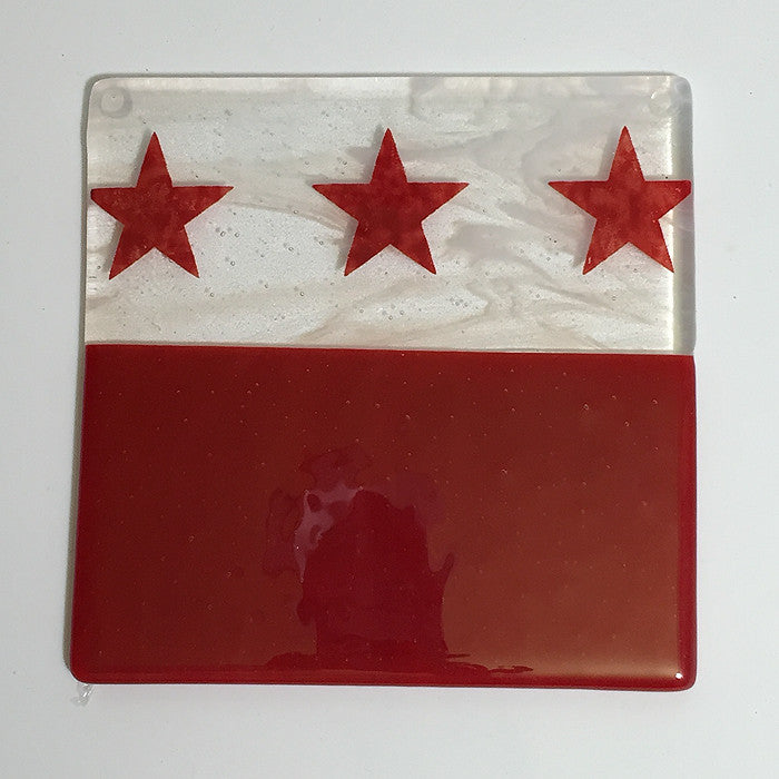 Washington DC Flag Trivet