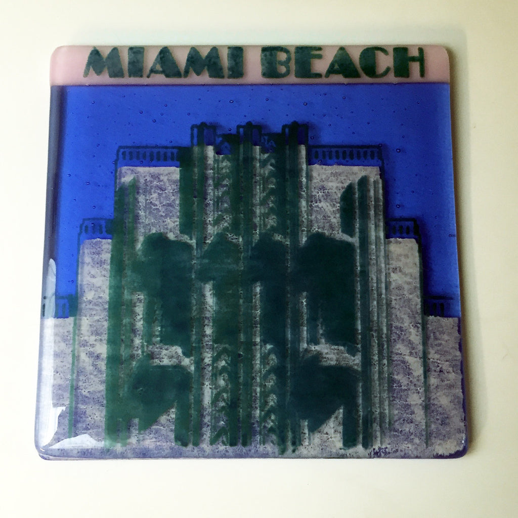 "Miami Beach ""Art Deco"" Trivet"