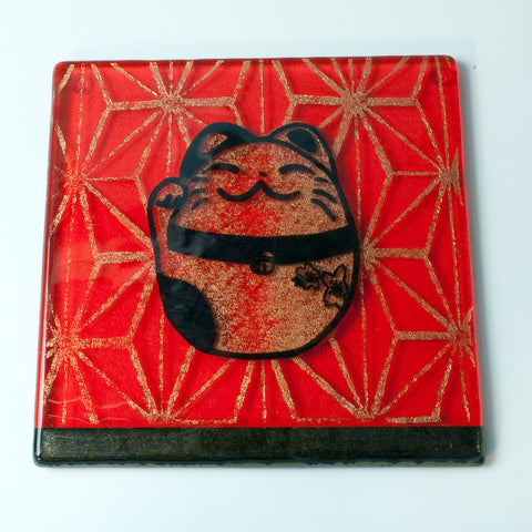 "Maneki Neko ""Lucky Cat"" Trivet"