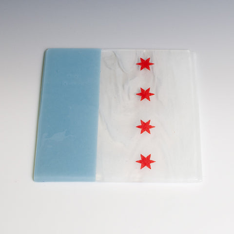 Chicago Flag Trivet