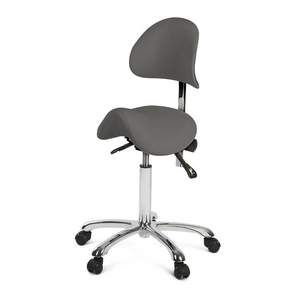 Med-Resource 935 Saddle Stool with Backrest
