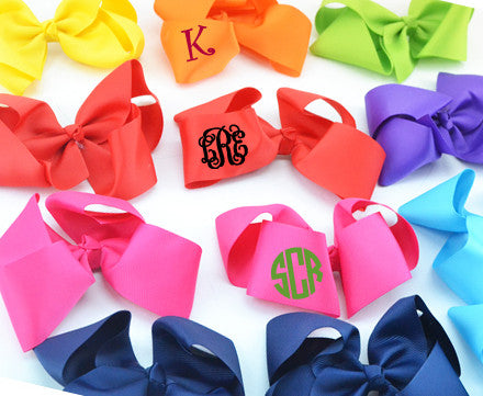 Monogrammed Hairbows - KABOLILLIE monogrammed gifts
