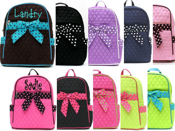Monogrammed Quilted Book Bag - KABOLILLIE monogrammed gifts