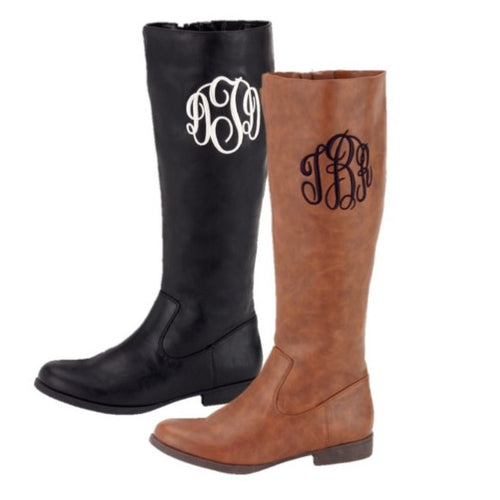Monogrammed Riding Boots - KABOLILLIE monogrammed gifts