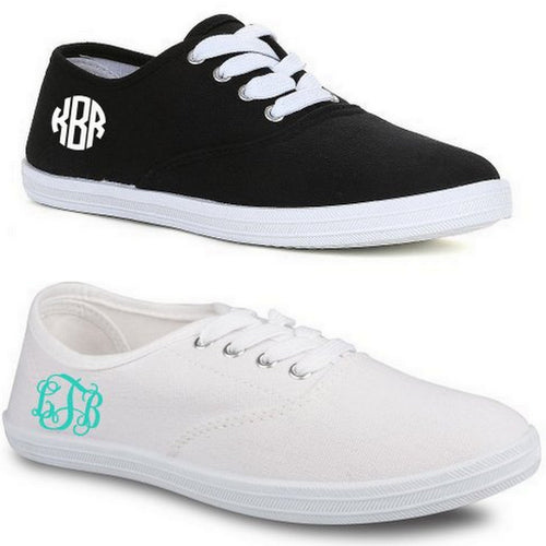 Monogrammed Canvas Tennis Shoe - KABOLILLIE monogrammed gifts