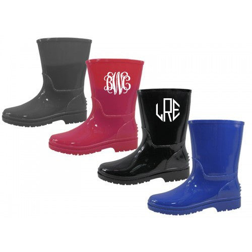 Kid's Monogrammed Rain Boots - KABOLILLIE monogrammed gifts