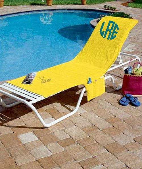 Monogrammed Lounge Chair Cover - KABOLILLIE monogrammed gifts