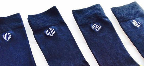 Men's Monogrammed Dress Sock, set of 3 - KABOLILLIE monogrammed gifts