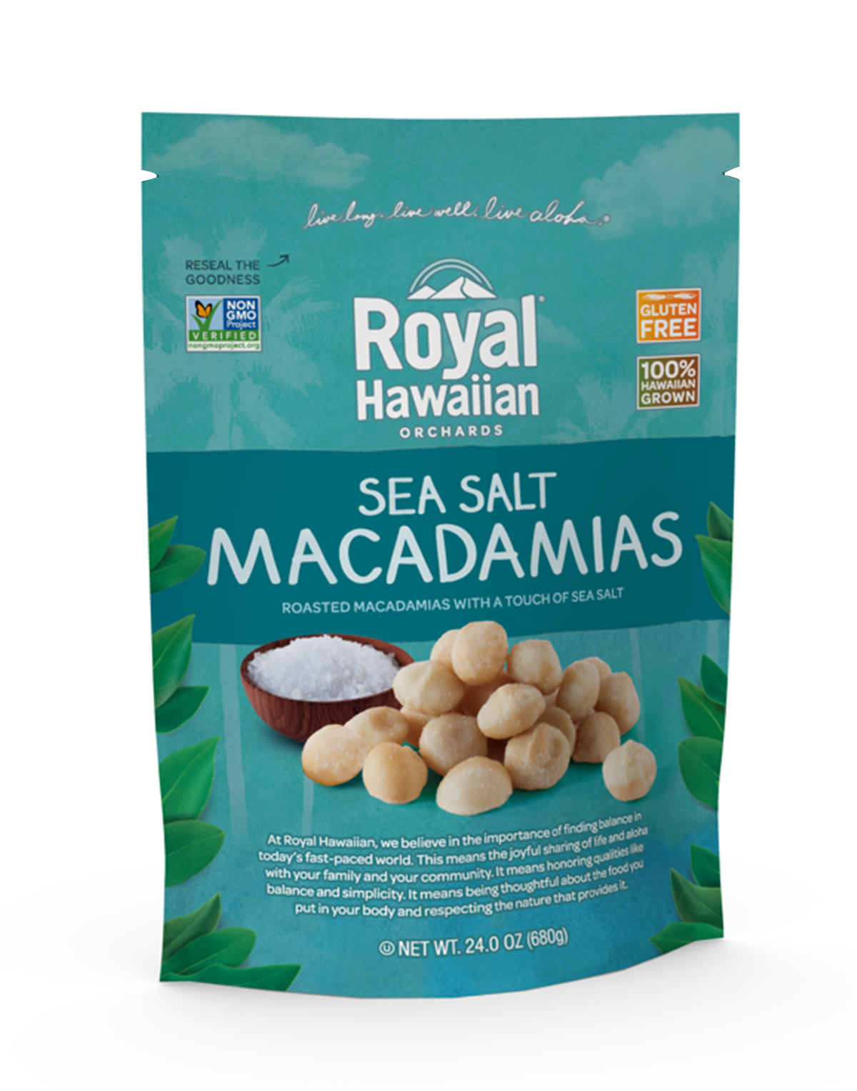Sea Salt Macadamia Nuts 24 oz. Family Size