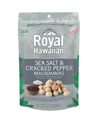 Sea Salt and Cracked Pepper Macadamia Nuts