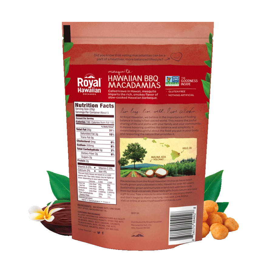 Hawaiian BBQ Macadamias | Royal Hawaiian Orchards