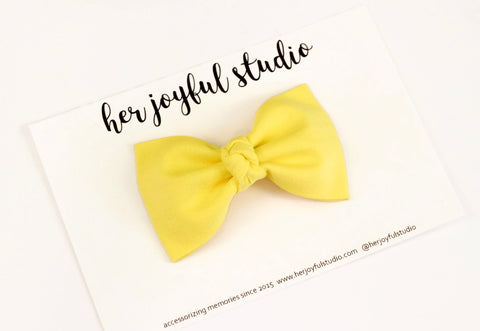 Electric Yellow - Brooke Bow - herjoyfulstudio