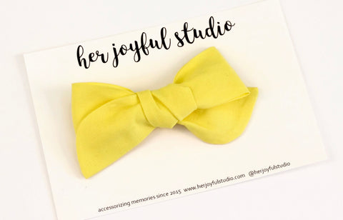Electric Yellow - Poppy Bow - herjoyfulstudio