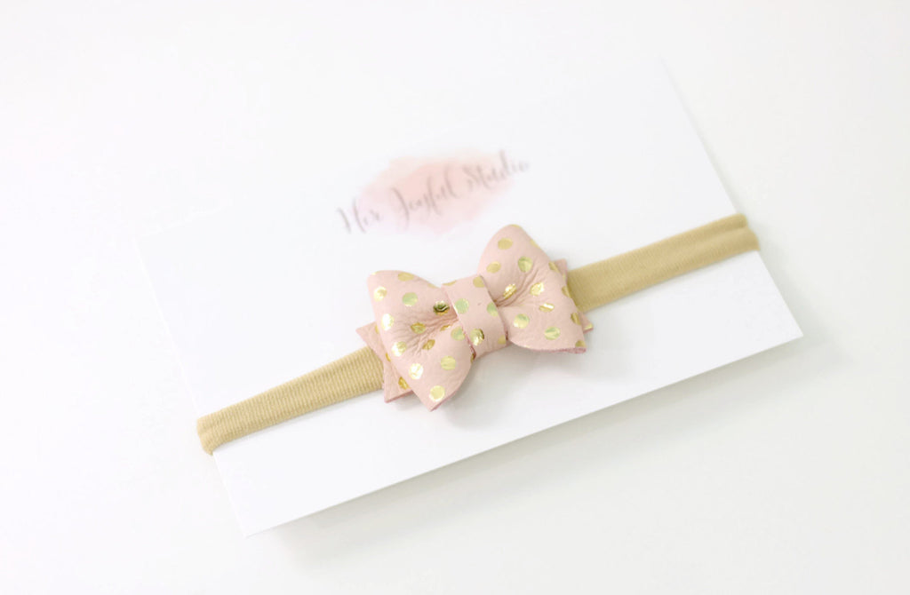 baby headband - newborn headband - fall headband - leather headband - leather bow headband - baby girl headband - infant headband, baby girl