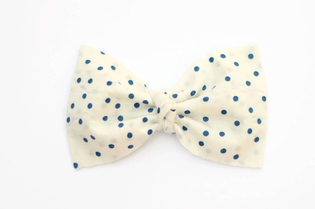 Nylon Baby Headband - Blue Baby Girl Bow - Baby Headbands - Baby Girl Headband - July 4th Bow - 4th of July Bow Headband