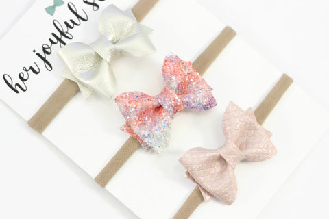 Mermaid Kisses Headband or Clip Set - herjoyfulstudio