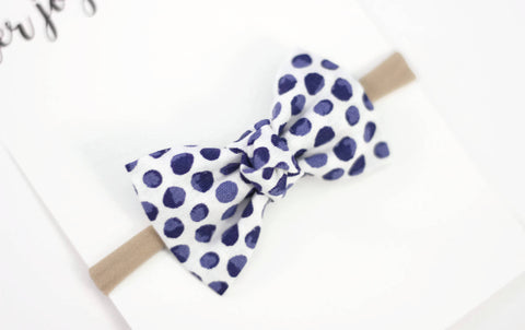 Baby Headband, Baby Bow Headband, Infant Headband, Newborn Headband, Baby Hair Bow, Baby Bow Clip, Baby Shower Gift, Baby Bow- Blueberry