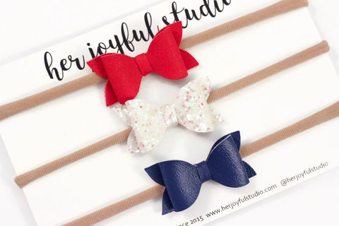 Fourth of July bows, baby headband, 4th of July headbands, bow headband, infant headband, Newborn headband, girl bow headband, baby headband
