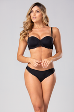 Balconette Strapless Bra Made Of Microfiber And Tulle (011102)