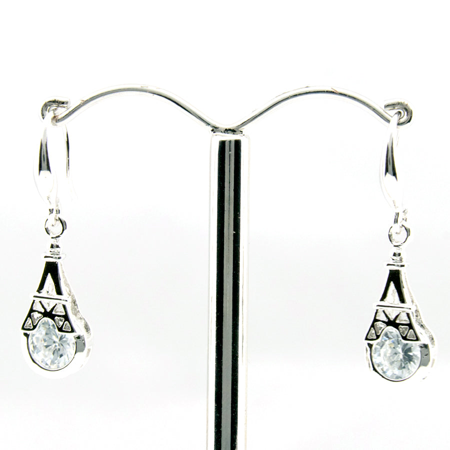 Eiffel Tower Crystal Drop Earrings ER012