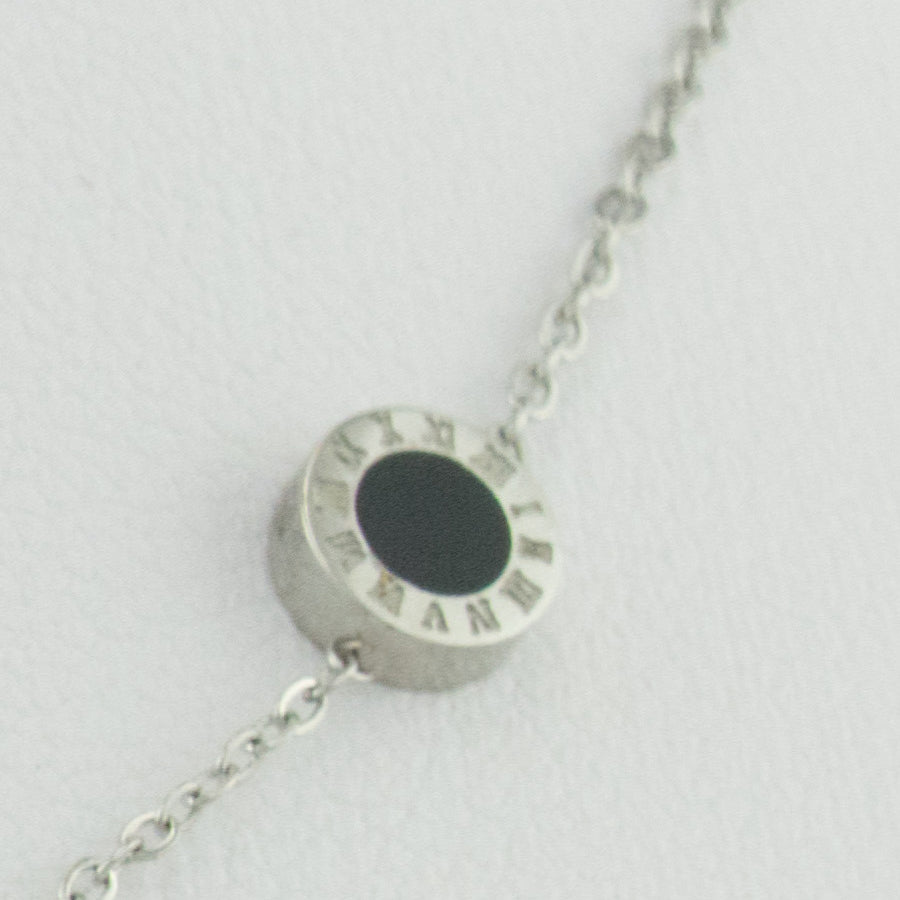 Roman Numeral Buttons Necklace NL002