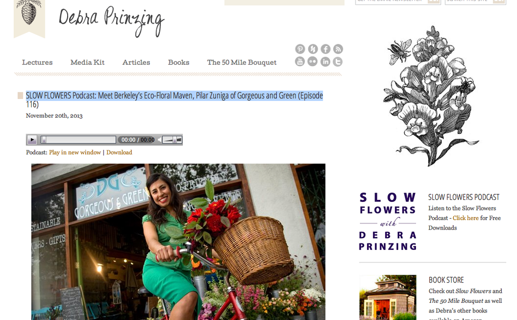 Slow Flowers Podcast interview with Pilar Zuniga of Gorgeous and Green