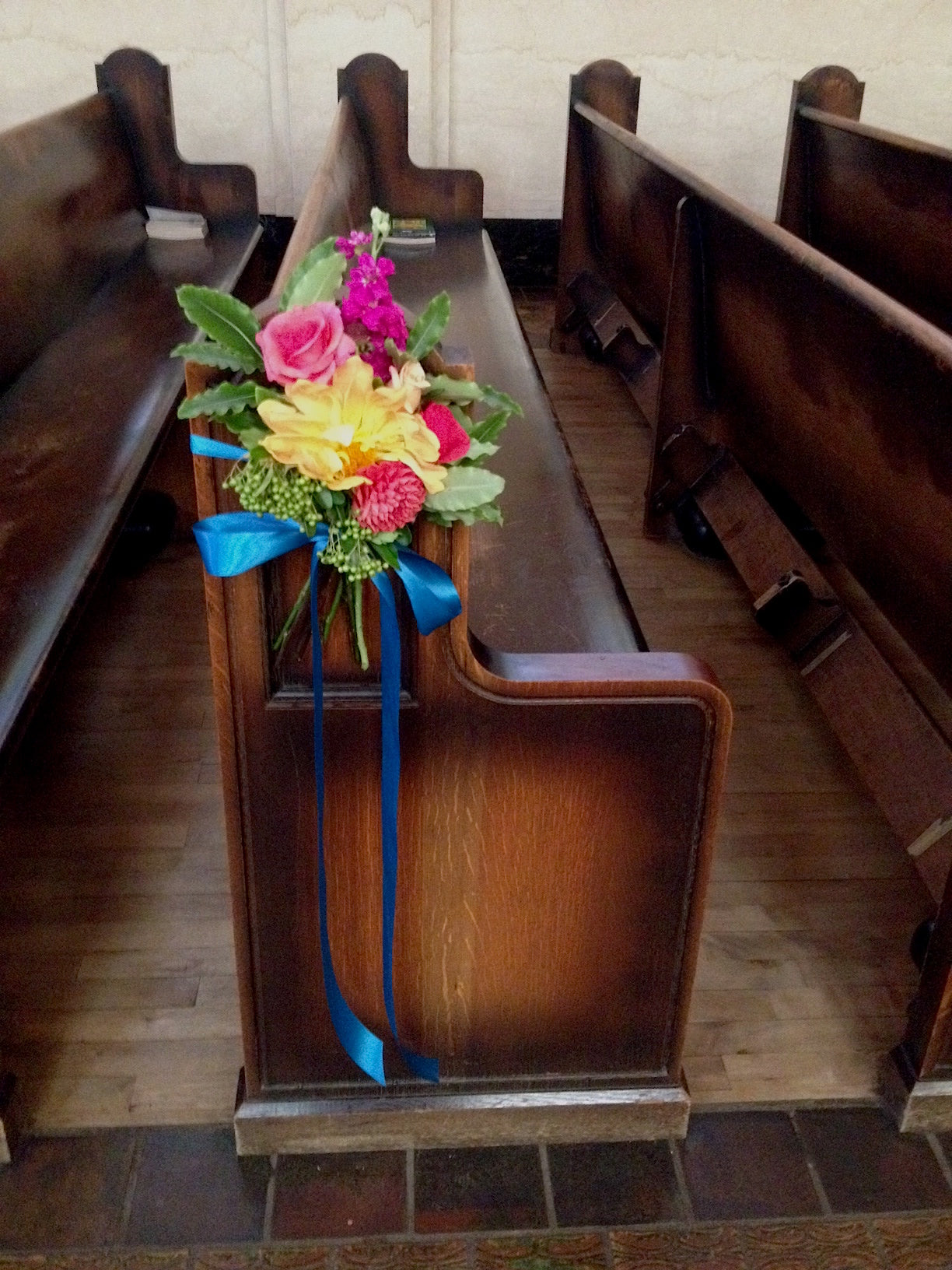Wedding flowers at St Vincent's with a touch of Tuscany