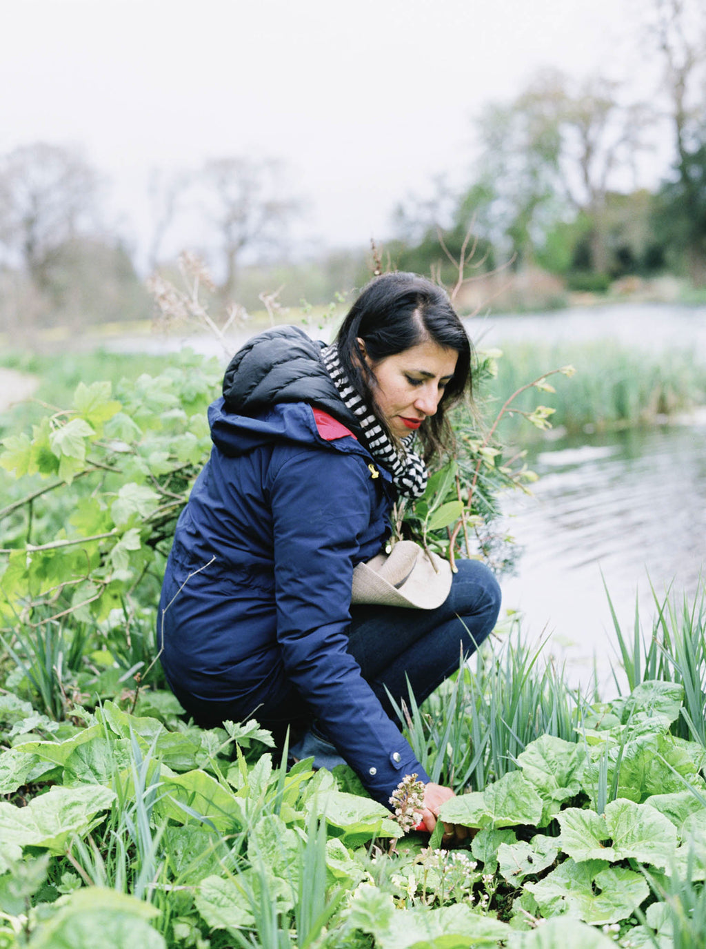 Pilar Zuniga Foraging for floral design materials, England St. Giles
