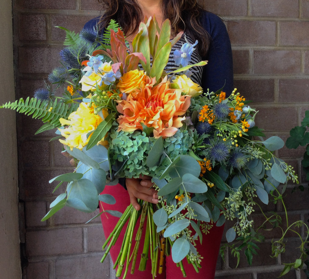 Oversized bouquets for bay area brides