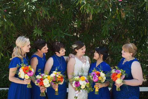 Bridesmaids bouquets and Bridal bouquets by Gorgeous and Green, Tiburon Wedding