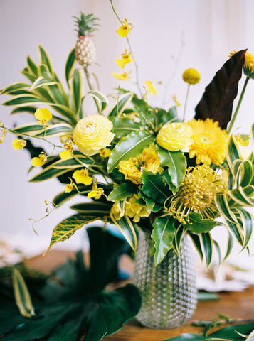 Gorgeous and Green pineapple party ideas and florals on 100 Layer Cake
