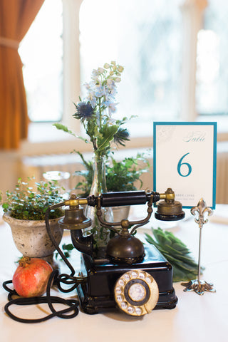 rented vintage items and florals by Gorgeous and Green for wedding Berkeley City Club