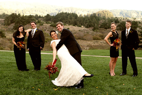The Wedding party at Costanoa florals by Gorgeous and Green