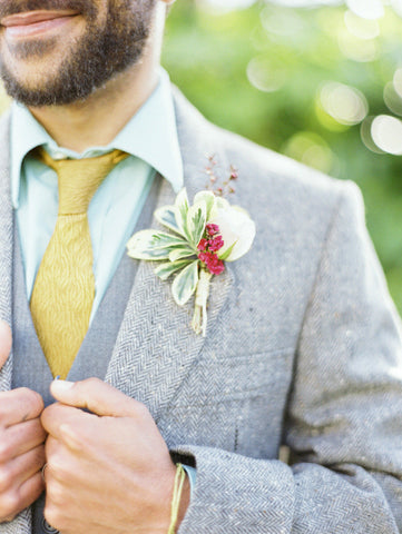 Boutonniere by Gorgeous and Green, photo by Erich Mcvey
