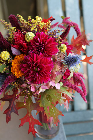 Fall inspired Bridal Bouquet by Gorgeous and Green