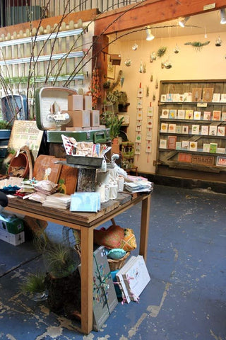 Inside the old Gorgeous and Green boutique