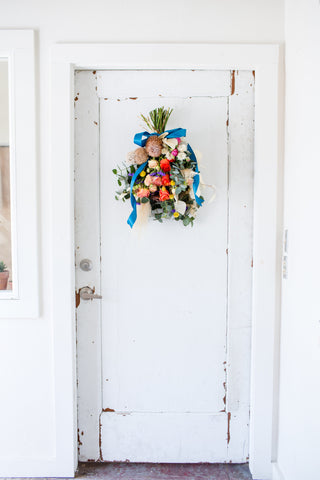 Colorful Swag for the door, Photo by Cheers Babe Photo