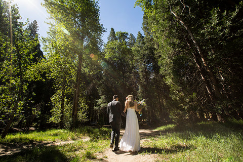Couple in Yosemite for wedding