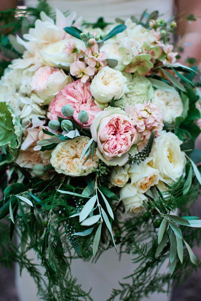 Bridal bouquet by Gorgeous and Green at Oakland Nature Friends