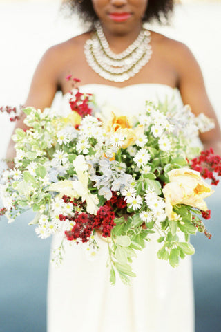 Gorgeous and Green florals for Oakland photoshoot featured on Style me Pretty, photos by Erich McVey
